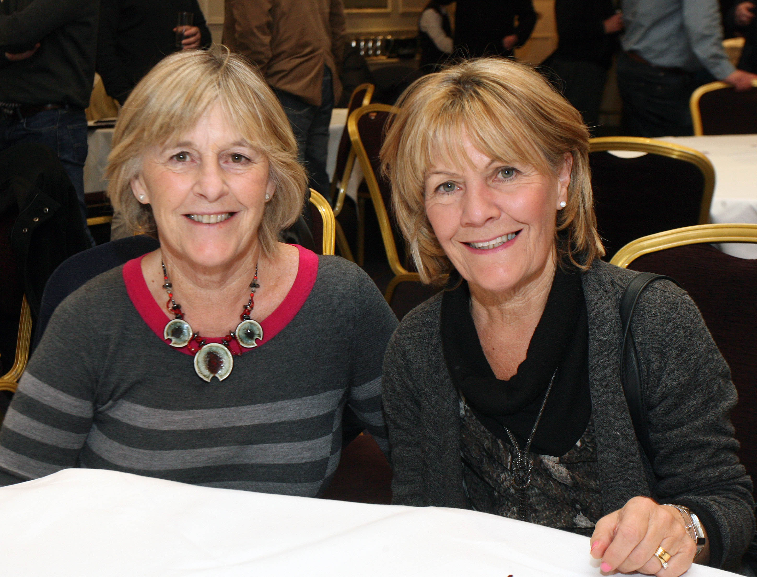 Bríd Rowe, Salthill and Mary Allen, Dublin, at the launch of the Galway Soccer Co-op supporting Galway United at Hotel Meyrick.