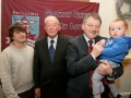 Four generations. Chairman of Galway United, Bernie O'Connell, holds his grandson Timí, his son Cian and his father Maurice, at the launch of the Galway Soccer Co-op supporting Galway United at Hotel Meyrick.